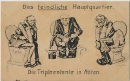 Satirical German Card Czar Nicolas II Defecating With French President And UK King Die Tripleentente In Noten - Russia
