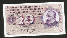 [CC] SVIZZERA / SUISSE / SWITZERLAND - NATIONAL BANK - 10 FRANCS / FRANKEN (1970) G. KELLER - Svizzera