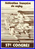 FFR.57éme CONGRES - SARLAT 24JUIN 1978 Menu(recto Versos) - Rugby