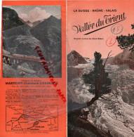SUISSE - DEPLIANT TOURISTIQUE - VALLEE DU TRIENT - VALAIS- MARTIGNY-CHATELARD-CHAMONIX- ANNEES 40 - Toeristische Brochures
