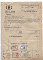 Facture Du Service Des Finances Centre Philatélique SNCB+adjudication C.BXL Petite-Ile 1/12/1943 TP Fiscaux PR2704 - Otros