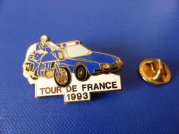 Pin´s Gendarmerie - Tour De France 1993 - Vélo Cyclisme Voiture Moto - Zamac Delsart (KA11) - Army