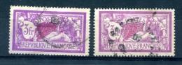 2 Exemplaires Merson Yvert 240 Pour Teintes De Fond - T 230 - 1900-27 Merson