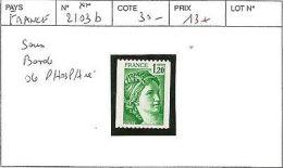 FRANCE 2103b** SANS PHOSPHORE - France