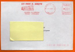 78 MANTS LA JOLIE   LES CARS....  1985     Devant De Lettre N°  EMA 3596 - Freistempel