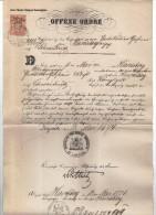 DOK29 KON.PREUSSISCHE REGIERUNG Zu LIEGNITZ 1874 OFFENE ORDRE Vom 12 MAI 1874 SIEHE ABBILDUNG - Historische Dokumente