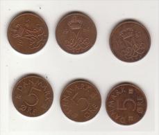 Dänemark , 5 Öre , 1985 , 1986 , 1987 ( G.Schön 77 ) - Dänemark