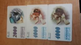 Belarus-kapta-(2000,4000,4000)-(3card Prepiad)-used+1card Prepiad Free - Belarus