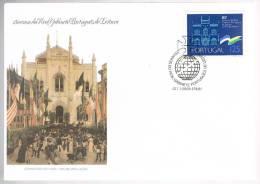 Portugal, 1987, FDC 150 Anos Do Real Gabinete Português De Literatura Do Rio De Janeiro, Carimbo De Lisboa - FDC