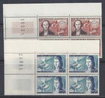FR - 1955 - N° 1012 à 1017  EN BLOCS DE QUATRE AVEC COINS NUMEROTES - XX - MNH - TB - - Nuovi