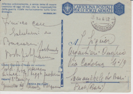 *cartolina Postale 1942 FRASE MUSSOLINI GRUMELLO - Militaria