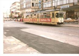 Photo Originale-Foto Tram Strassenbahn Tramway-Linie 305-Bochum Bongardstrasse-(Weiser-SinnLeffers)- Schultheiss Pils- - Eisenbahnen