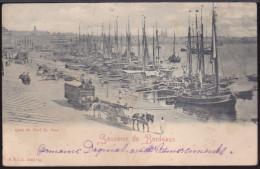 CPA - (33) Souvenir De Bordeaux - Quai Du Port St Jean (carte Abimée) - Bordeaux