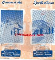 SUISSE - BEAU DEPLIANT TOURISTIQUE -WENGERNALP-JUNGFRAU-INTERLAKEN- EISMEER- GRIMSEL-GALMI- - ANNEES 40 - Reiseprospekte