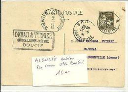 ALGERIE ENTIER 80C BRUN OBL BOUGIE - Algérie (1962-...)