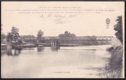 CPA - (77) Changis Saint Jean - La Passerelle Construite Par Le Génie Maritime Le 1er Avril 1915, Pour Remplacer Le Pont - Otros Municipios