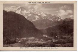 Servoz Vue Generaleet Le Massif Du Mont-Blanc - France