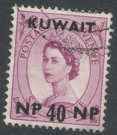 Kuwait. 1957-58 QEII Stamps Of GB O/p. 40np On 6d Used. SG 128 - Kuwait