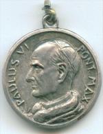 POPE PAULUS VI PONT MAX MEDAL MEDAGLIA DIAMETER 2.5 Cm - Godsdienst & Esoterisme