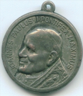 POPE JOHN II JOANNES PAULUS II PONTIFEX MAXIMUS RELIGIOUS MEDAL MEDAGLIA DIAMETER 2.5 Cm - Godsdienst & Esoterisme