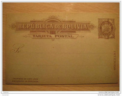 1 Centavo INTERIOR Postal Stationery Card Tarjeta Entero Postal Entier Postaux Eagle Bolivia - Bolivia