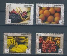 Palestine 210, Palestinian Authority, 2012, Fruit, 4 Stamps,   MNH. - Palestina