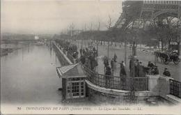 CPA PARIS Inondation Commerce Catastrophe Carte Ancienne Non Circulé - De Overstroming Van 1910