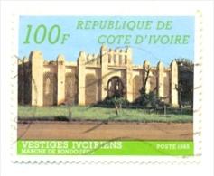 Ivoire-710Au. Sello Usado Costa De Marfil. Yvert Nº 710A. Vestigios Ivoirenses - Côte D'Ivoire (1960-...)
