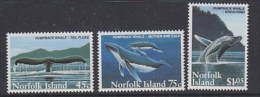 Norfolk Islands 1995 Whales 3v ** Mnh (27505) - Norfolk Eiland