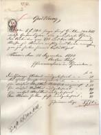 DOK19 ÖSTERREICH 1873 QUITTUNG  Göße Ca 21 X 34 Cm SIEHE ABBILDUNG - Österreich