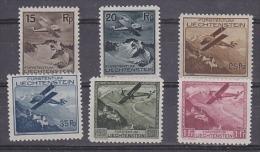 Liechtenstein 1930 Airmail 6v * Mh (=mint, Hinged)  (27507) - Luchtpostzegels