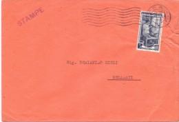 TIMBRO PESARO - 12X18 - LS/STAMPE - ANNO 1953 - TEMA TOPIC COMUNI D´ITALIA - STORIA POSTALE - Affrancature Meccaniche Rosse (EMA)