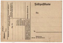 GERMANY 1914-18 WW I Feldpostkarte Blanco - 1914-18