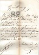 DOK17 ÖSTERREICH 1862 QUITTUNG Vom 6.Jänner 1862 Göße Ca 20,5 X 34 Cm SIEHE ABBILDUNG - Österreich