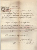 DOK15 ÖSTERREICH 1869 QUITTUNG Vom 31.Dezember 1869. Göße Ca 22 X 34 Cm SIEHE ABBILDUNG - Österreich
