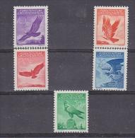 Liechtenstein 1934/1936 Airmail 5v * Mh (=mint, Hinged) (27508) - Luchtpostzegels