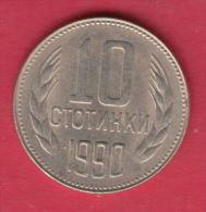 F6600 / - 10 Stotinki - 1990 - Bulgaria Bulgarie Bulgarien Bulgarije - Coins Monnaies Munzen - Bulgaria