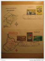 1961 Fdc Cancel Santander Del Sur Barranquilla Bucaramanga Barranquilla Velez San Gil 2 Cover Colombia - Colombia