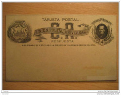 Tarjeta Postal UPU Respuesta 4 Centavos Entero Postal Stationery Card Entier Postaux Costa Rica - Costa Rica