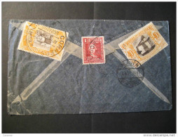 Guayaquil 1938 To Plauen Germany 3 Stamp On Air Mail VIA NEW YORK USA Cover Ecuador - Equateur