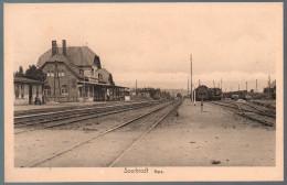 1504 - Ohne Porto - Alte Ansichtskarte - Sourbrodt - La Gare - Bahnhof Eisenbahn N. Gel TOP - Waimes - Weismes