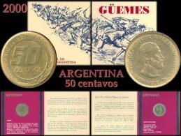 ARGENTINA Bl#12 Blister Güemes 50 Centavos Año 2000 - Moneda - Blister Conmemorativo De Guemes Año 2000 - Argentina