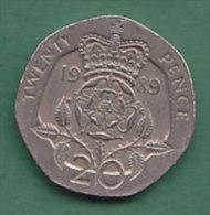 GRANDE BRETAGNE ELIZABETH II    20 PENCE   ANNEE 1989    LOT100334 - 20 Pence