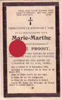 Soeur Marie Marthe  Barbe Proost Gheel 1833 Sr De St Vincent De Paul Gysegem  Supérieure à La Kan AUBEL - Timbres