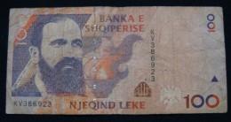 ALBANIA 100 LEK 1996 VF, SERIAL# KV - 386923 - Albania