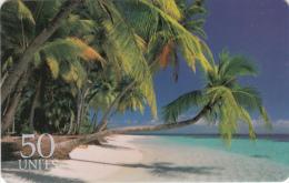 USA - Tropical Beach, Global One(T Telecom, France Telecom, Sprint) Prepaid Card 50 Units, Exp.date 03/98, Mint
