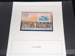 CAP VERT -  Bloc Luxe Avec Texte Explicatif - Belle Qualité - À Voir -  N° 11549 - Cape Verde