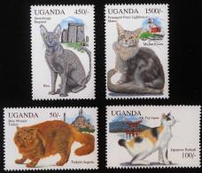 CHATS DU MONDE 1994 - NEUFS ** - YT 1092/95 - Uganda (1962-...)