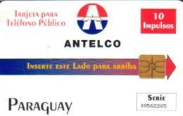 PARAGUAY 10 U LOGO 1ST GENERIC ISSUE  CHIP READ DESCRIPTION !! - Paraguay