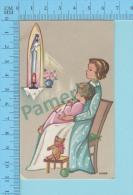 GBB-VIC-88 ( Illustrateur Ivers ) Image Pieuse Holy Card Santini 2 Scans - Devotion Images